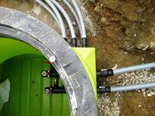 Zunanji glikolni podzemni jašek od toplotne črpalke zemlja-voda